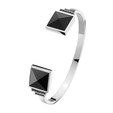 Georg Jensen 3531155_ART_DECO_Bangle_570A_Bl_Dia hos Jarl Sandin