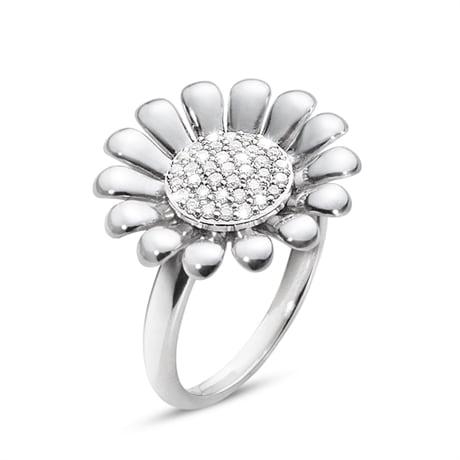 georg jensen 3560400 sunflower ring i silver med diamanter hos. JARLSANDIN 89eb277aad8fc