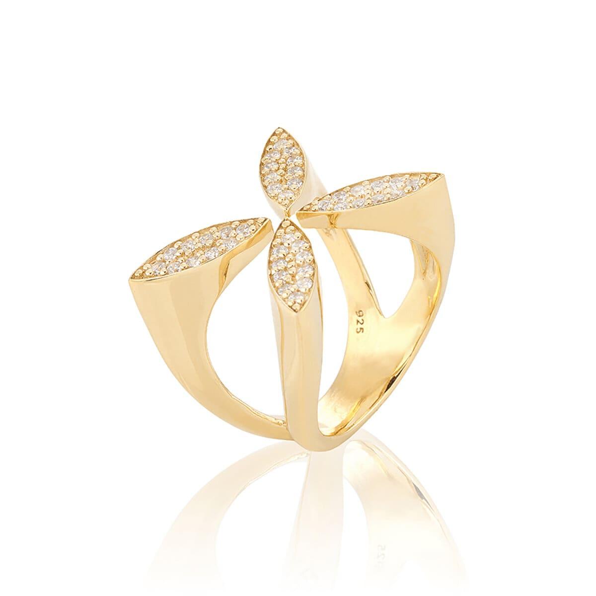 Sparkling Ellipse Ring