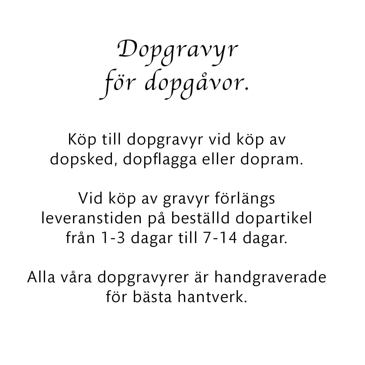 Dopgravyr för dopgåvor.