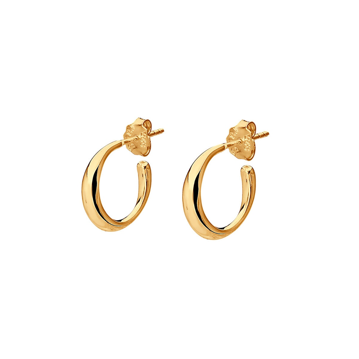 Les Amis Small Hoops Gold