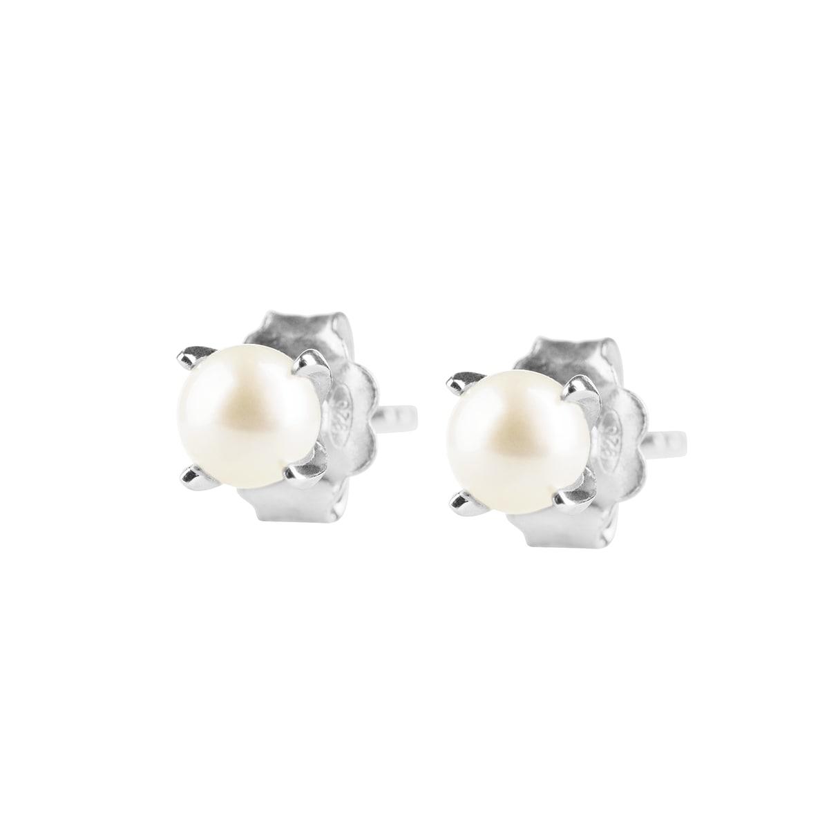 Petite Pearl Örhängen Silver