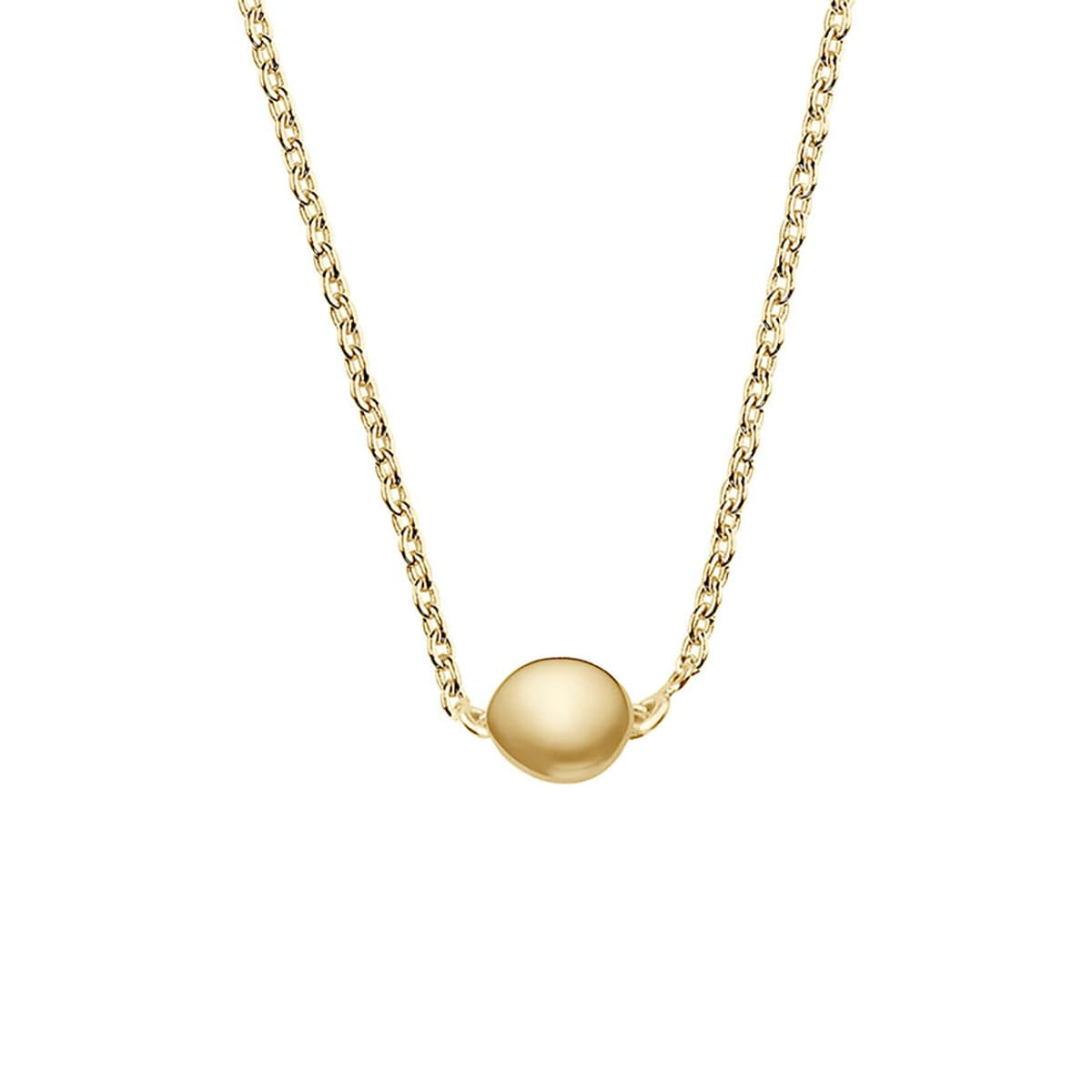 Stardust Drop Necklace Polished Gold