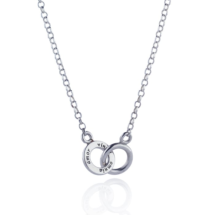 Efva Attling Mini Twosome Necklace silver halsband 10-100-00565 4245 ... a80023d7cdadd