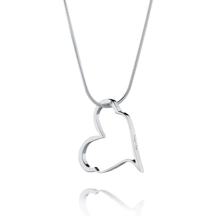 Efva Attling Crazy Heart 11-100-00256 0000 Silver Halsband Hos Jarl ... 7d5995583c2b2