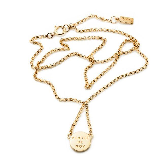 Halsband i guld från Efva Attling stansat med Pencez de moy som ... 829fdc1633e6a