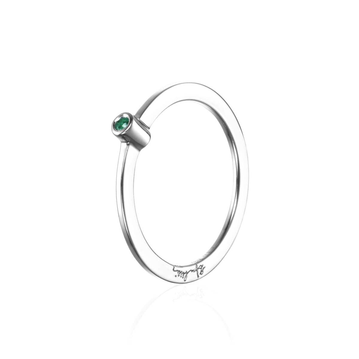 Micro Blink Ring Green Emerald