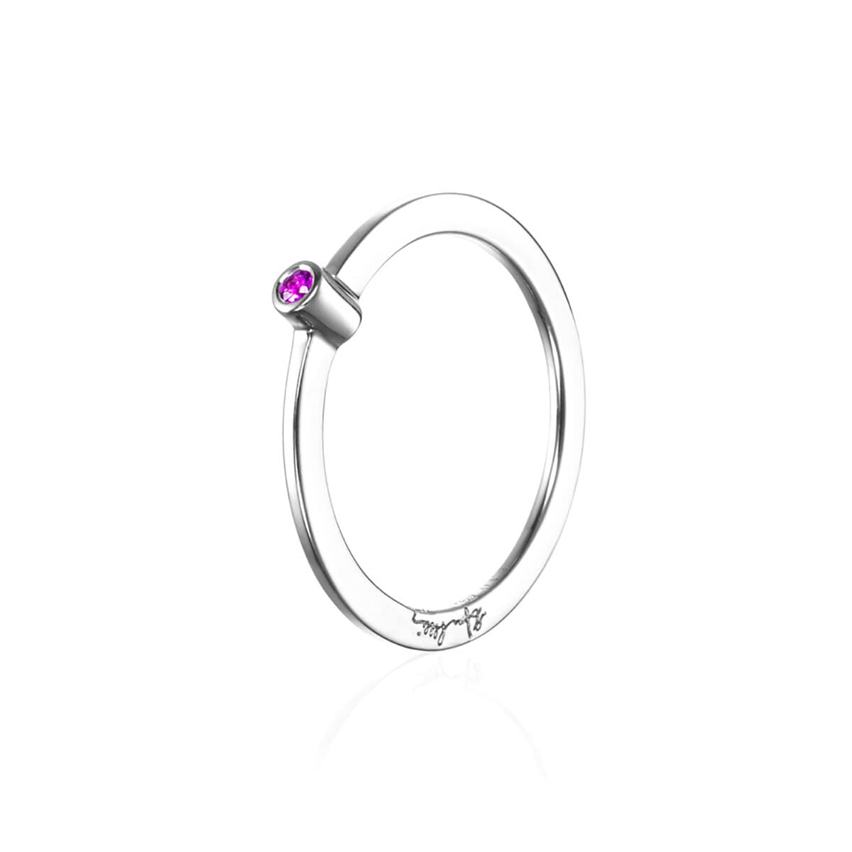 Micro Blink Ring Pink Sapphire