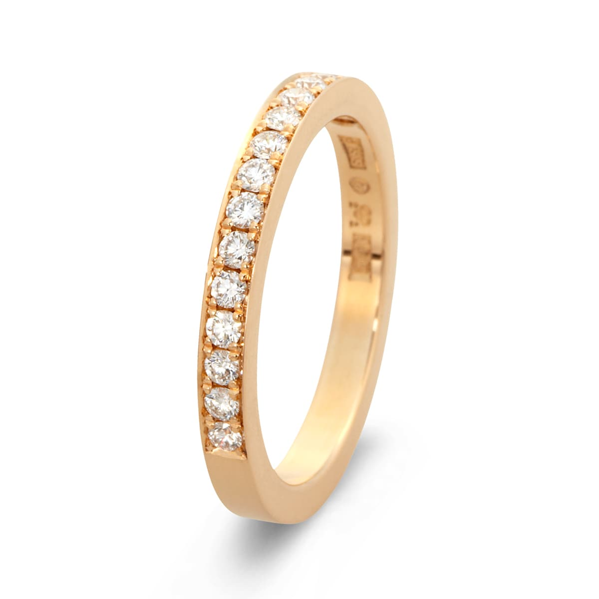 vigselring med diamant