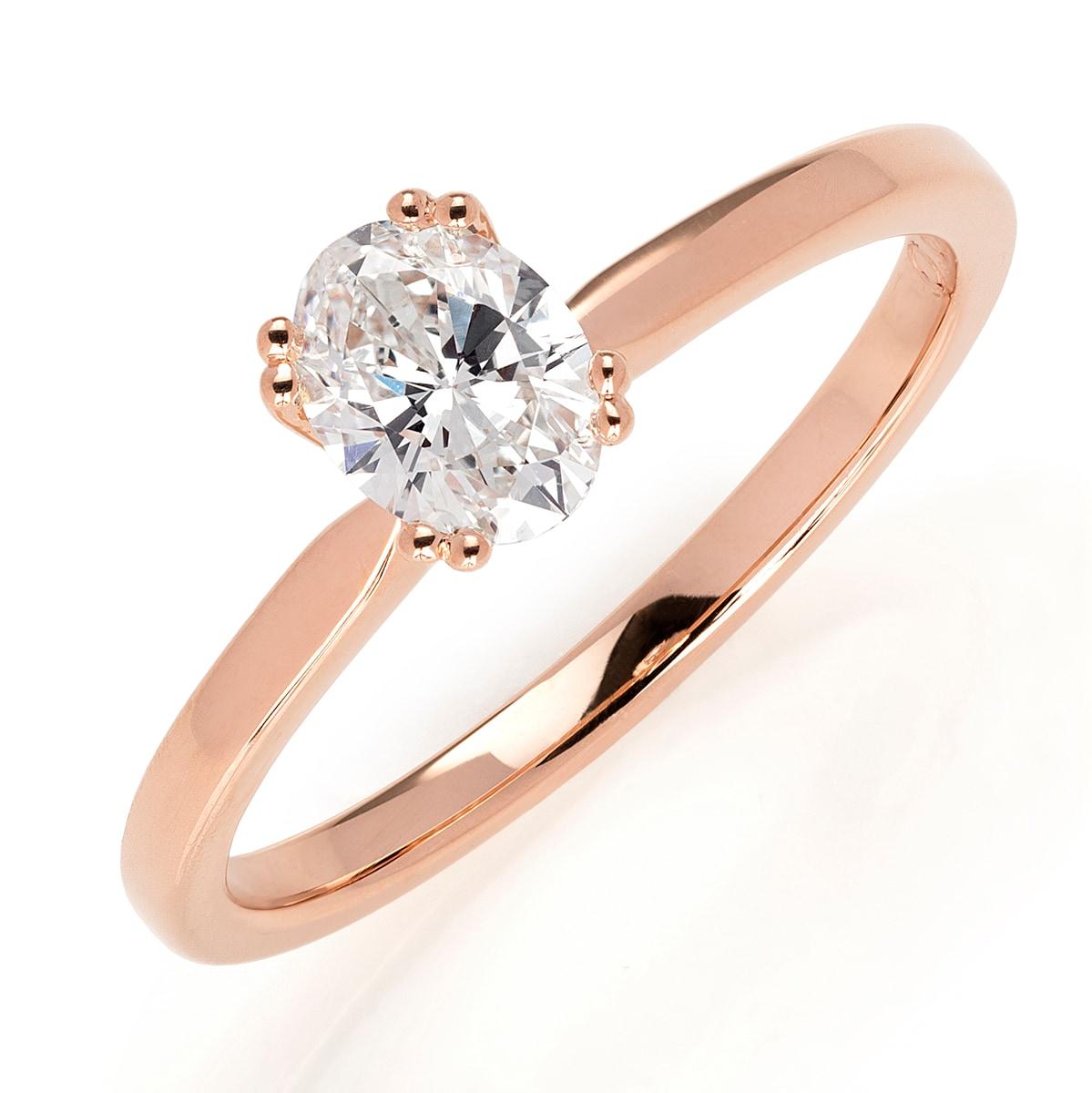 förlovningsringar rose guld diamant