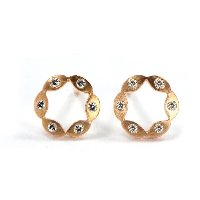 Juliet Earrings RG 6 dia