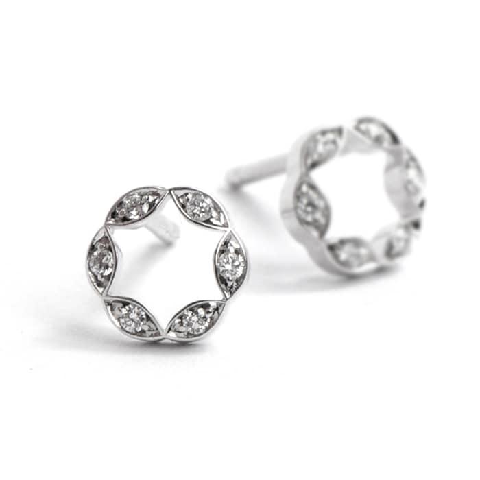 Juliet Earrings diamonds 6 faden WG