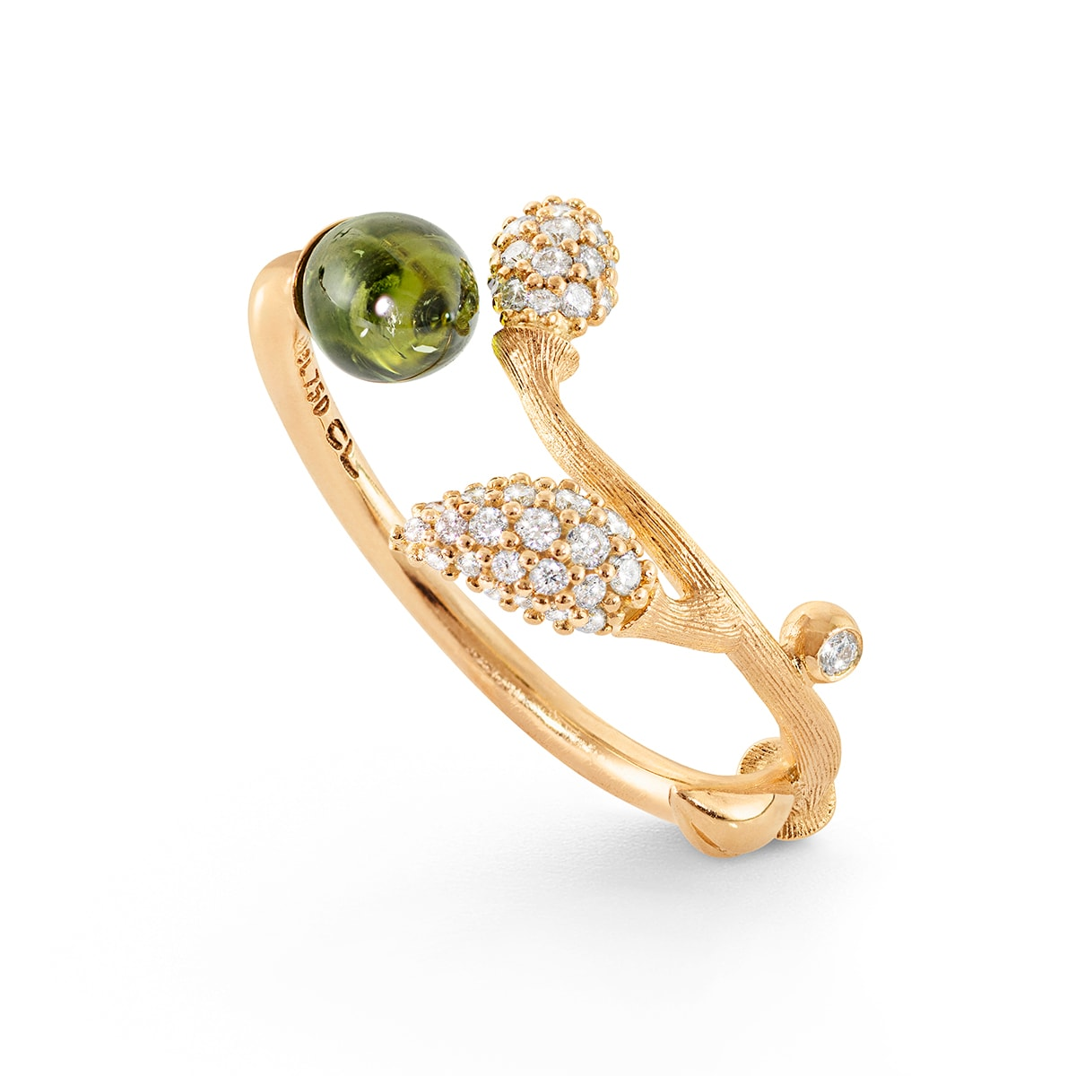 Ole_Lynggaard_A2885-403_Blooming_ring_18K_gold_with_tourmaline_hos_Jarl_Sandin