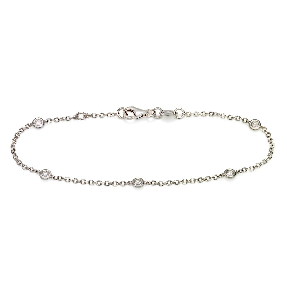Zefiro - diamantarmband 17/18cm