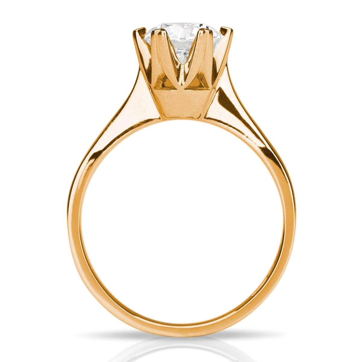 Sandin_56_Magnifik_enstens_diamantring_solitaire_1,02ct_rödguld_v1_hos Jarl_Sandin