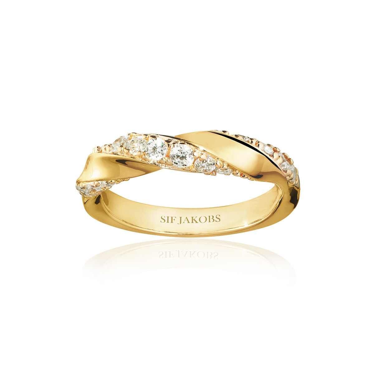 Ring Ferrara Gold With Zirconia