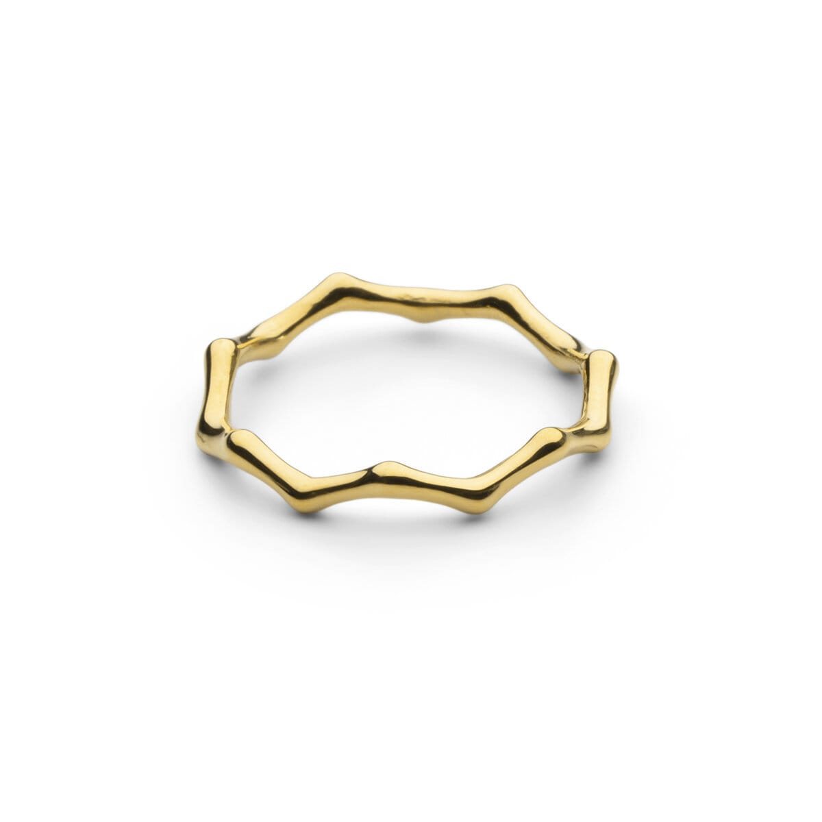 Bambou Ring - Gold Plated