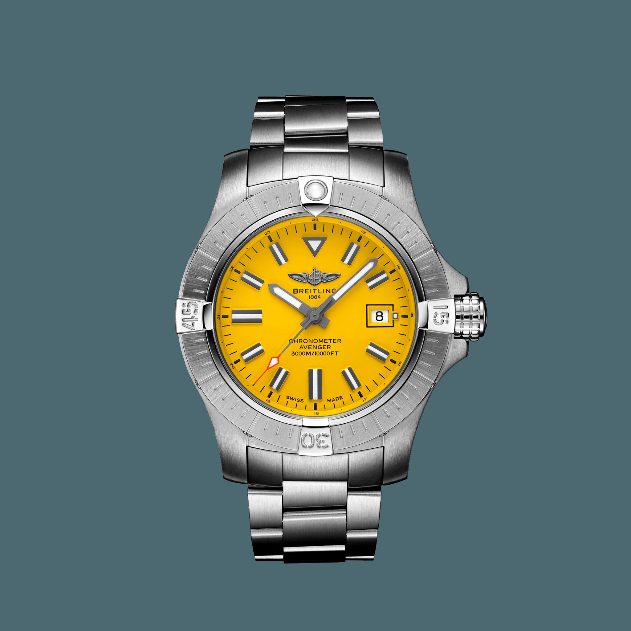 Avenger Automatic 45 Seawolf Steel - Yellow